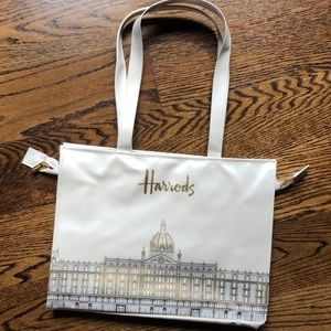 New Harrods Vinyl Tote Bag 15x11.5x4